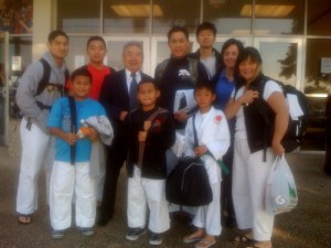 JKA NorCal team arriving on the day of the JKA AF National Tournament