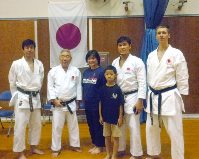 JKA NorCal with Sensei Mikami and Sensei Naka at the JKA/AF 2013 Camp