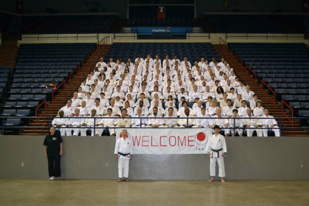 Group photograph of all JKA/AF 2013 camp participants