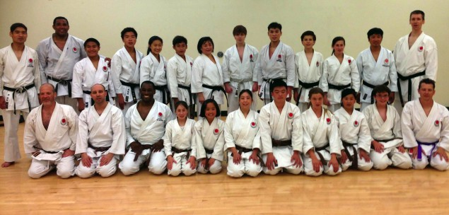 Photo of JKA NorCal with Sensei Andre Bertel