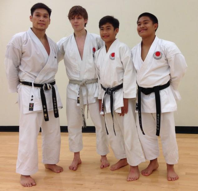 Sensei Khim, Sensei Andre, Rosh & Yuki