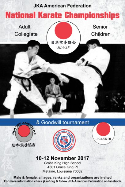 JKA AF Nationals + Goodwill Tournament 10-12 November 2017