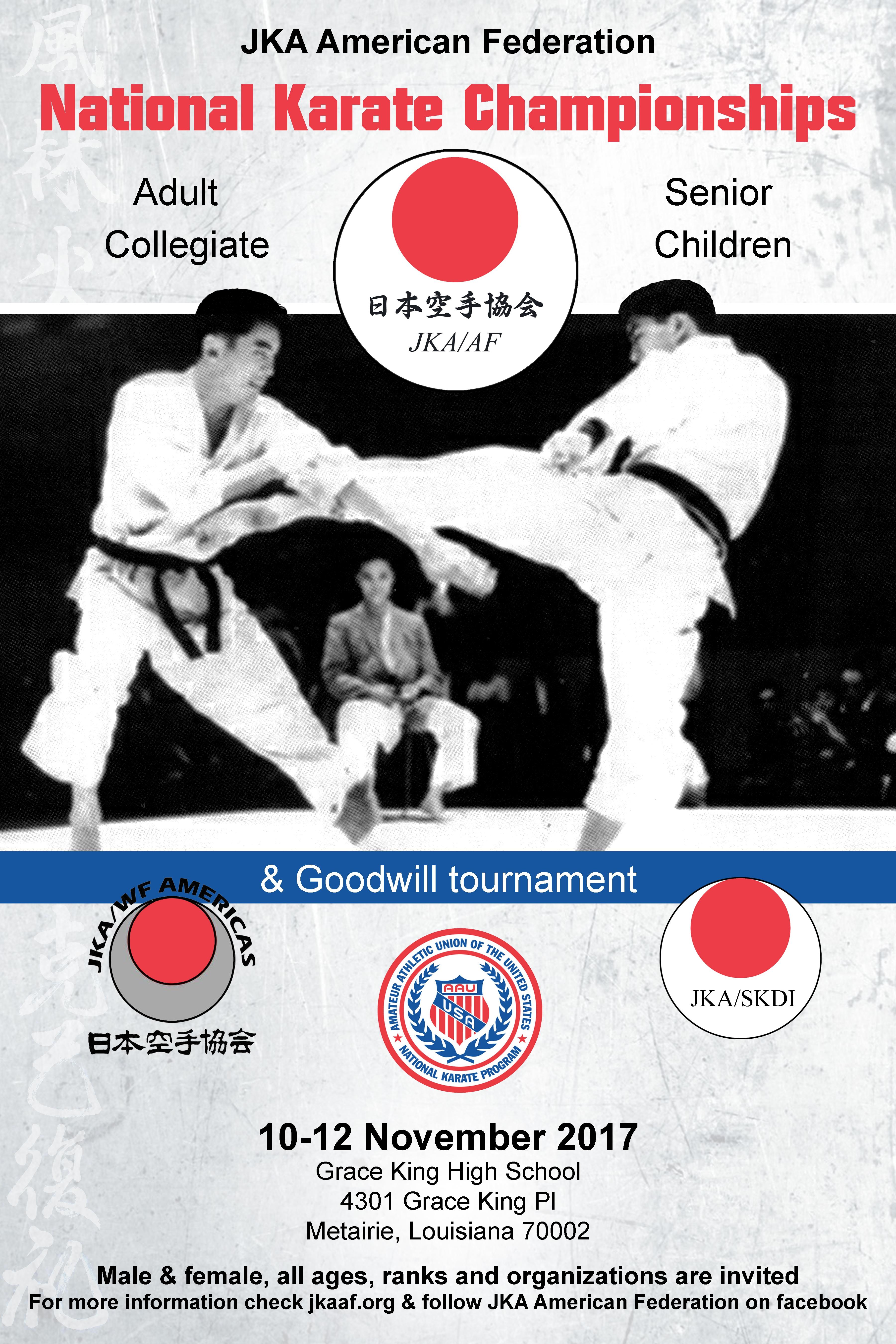 Tournaments jka of northern california shotokan karate jka af nationals goodwill tournament 10 12 november 2017 stopboris Gallery