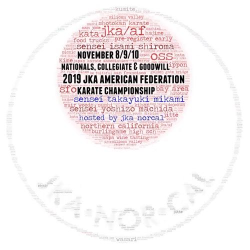 November 8-10 2019 JKA American Federation Karate Championship with Sensei Takayuki Mikami, Sensei Yoshizo Machida and Sensei Isami Shiroma